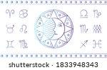 set for a horoscope. the face...   Shutterstock .eps vector #1833948343
