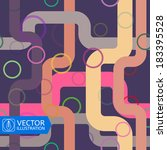 abstract colorful lines and... | Shutterstock .eps vector #183395528