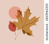 autumn leaves simple... | Shutterstock .eps vector #1833962353