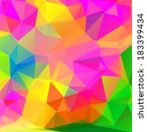 abstract colorful mosaic... | Shutterstock .eps vector #183399434
