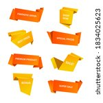 vector stickers  price tag ... | Shutterstock .eps vector #1834025623