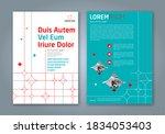 minimal geometric shapes design ... | Shutterstock .eps vector #1834053403