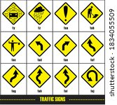 traffic sign for icon... | Shutterstock .eps vector #1834055509