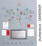 ui infographics elements with...