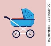 baby carriage  baby pram ... | Shutterstock .eps vector #1834068400