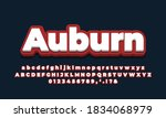 red dark with white 3d  font...   Shutterstock .eps vector #1834068979