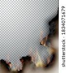 transparent design burning... | Shutterstock .eps vector #1834071679