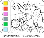 Color The Colored Baby Elephant ...
