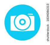 a camera icon designed with a...