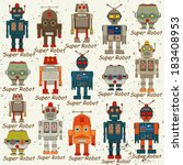 Seamless Robot Pattern Cartoon...