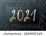 2021 happy new year vector... | Shutterstock .eps vector #1834092169