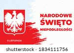 poland independence day 11th of ... | Shutterstock .eps vector #1834111756