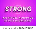 abstract 3d retro alphabet... | Shutterstock .eps vector #1834155433