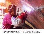 Welding Ship Repair In Shipyard