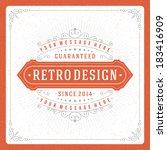 retro typographic design...   Shutterstock .eps vector #183416909