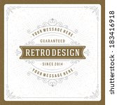 retro typographic design...   Shutterstock .eps vector #183416918