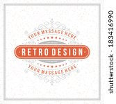 retro typographic design...   Shutterstock .eps vector #183416990