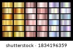 gold rose  silver  holographic  ... | Shutterstock .eps vector #1834196359