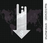 silver market price crisis... | Shutterstock .eps vector #1834201996