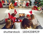 A Group Of Children Watching A...