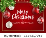 holiday new year and merry...   Shutterstock .eps vector #1834217056