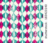 Vintage seamless pattern hipsters. Vector EPS10. Illustration with texture for print, web  - stock vector