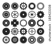 set of gear wheels isolated on... | Shutterstock .eps vector #183423338