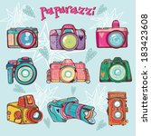 vector retro colorful set... | Shutterstock .eps vector #183423608