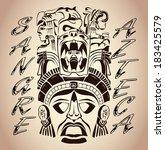 sangre azteca   aztec blood  ... | Shutterstock .eps vector #183425579