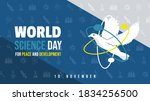 world science day for peace and ... | Shutterstock .eps vector #1834256500