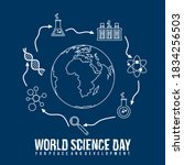 world science day for peace and ... | Shutterstock .eps vector #1834256503