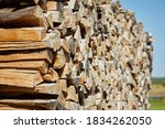 Stacks Of Firewood In The...