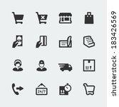 vector shopping and e store... | Shutterstock .eps vector #183426569