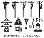 set of electric workers.... | Shutterstock .eps vector #1834277230