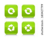 4 arrow green glossy icon....