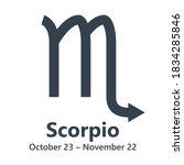 vector black  scorpio astrology ...   Shutterstock .eps vector #1834285846