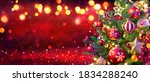 abstract christmas tree with... | Shutterstock . vector #1834288240