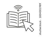 e book icon element of e... | Shutterstock .eps vector #1834301989