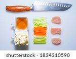 mise en place restaurant sauces | Shutterstock . vector #1834310590