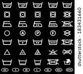 icon set of laundry symbols | Shutterstock .eps vector #183431660