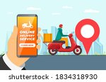 safe contactless delivery... | Shutterstock .eps vector #1834318930