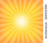 sun sunburst pattern. vector... | Shutterstock .eps vector #183431984