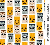 funny halloween seamless... | Shutterstock .eps vector #1834322263