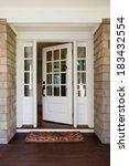 vertical shot of an open ... | Shutterstock . vector #183432554