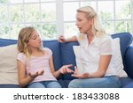 angry mother scolding daughter... | Shutterstock . vector #183433088