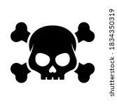 black silhouette of evil skull... | Shutterstock .eps vector #1834350319