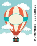 hot air balloon and clouds | Shutterstock .eps vector #183438698