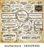 vector set of calligraphic... | Shutterstock .eps vector #183439400