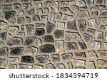 Small photo of background multiform stone wall textured rustic rocks