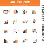 analysis icons on white... | Shutterstock .eps vector #183439598
